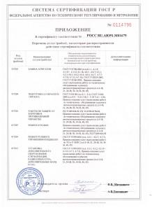 Приложение к сертификату 2016-2019 001